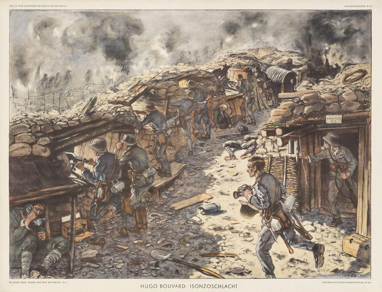 Schützengrabenszene Isonzoschlacht