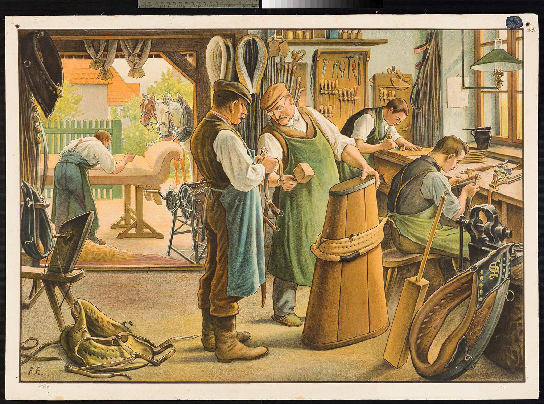 Werkstatt zur Lederverarbeitung spezialisiert auf Pferde Zaumzeug, Zügel und Halfterjoch