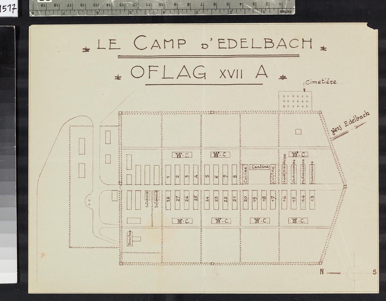 """Plan """"Le Camp d'Edelbach - OFLAG XVII A"""""""