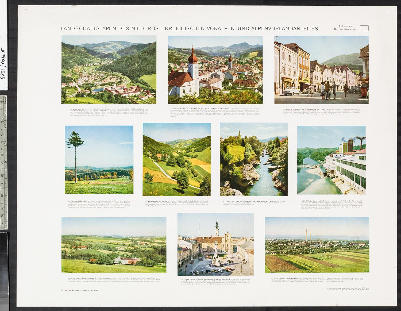 Landschaftstypen des Niederösterreichischen Voralpen- und Alpenvorlandanteiles