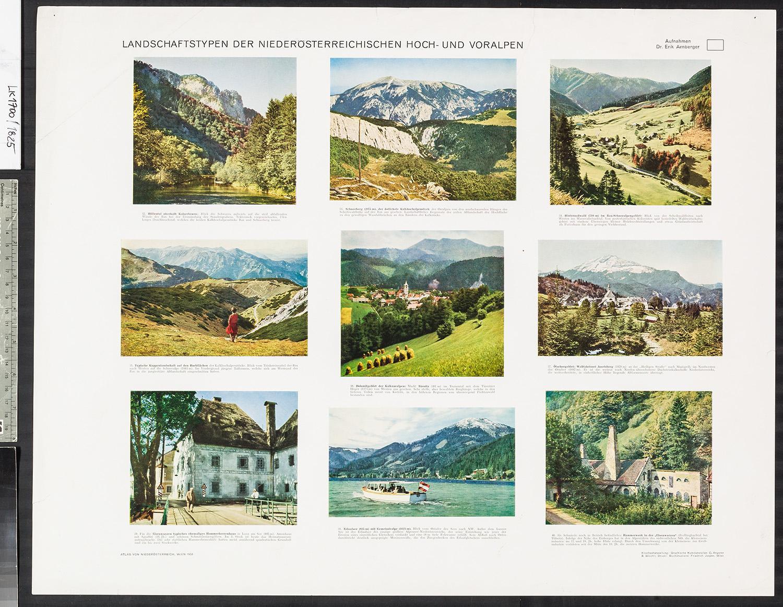 Landschaften der Niederösterreichischen Hoch- und Voralpen