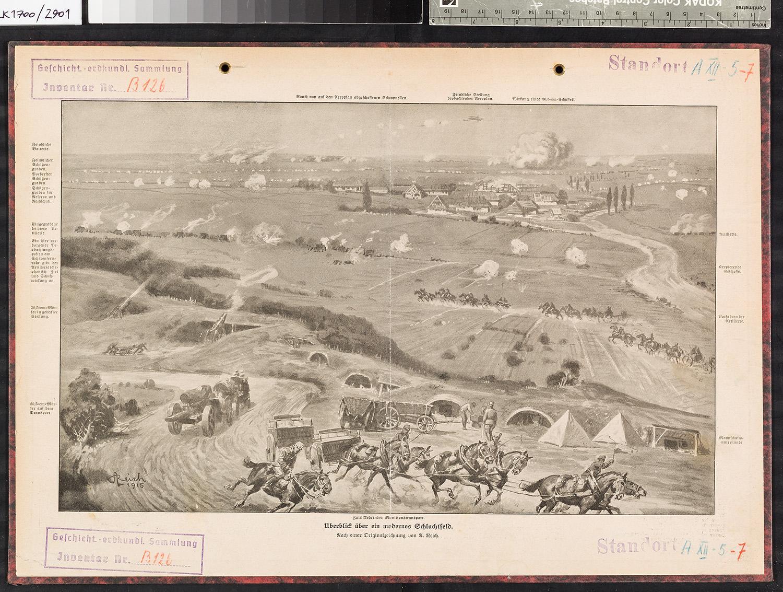 Gemaltes Historienbild Erster Weltkrieg