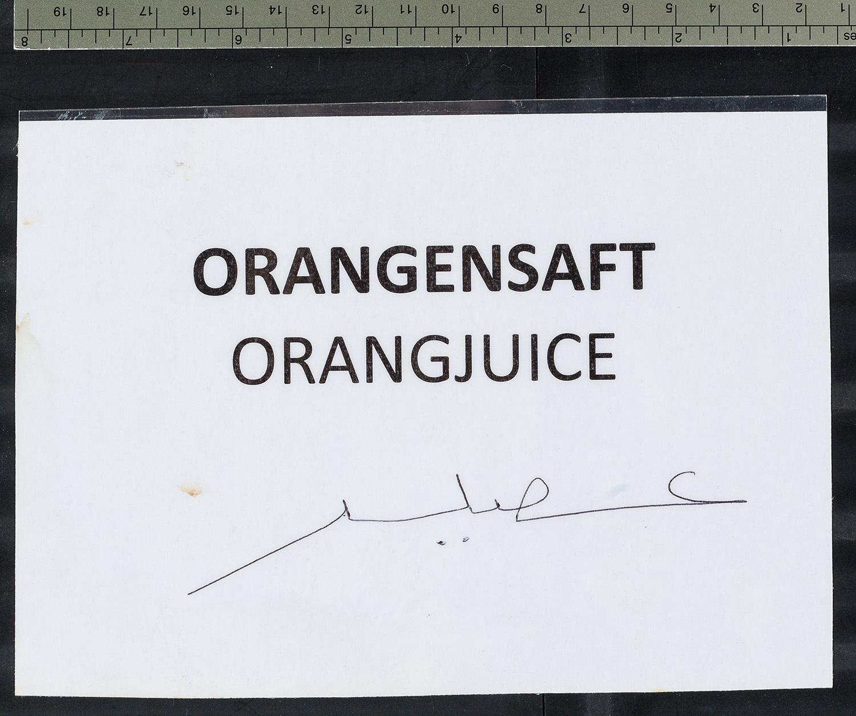 """Orangensaft Orangjuice"""