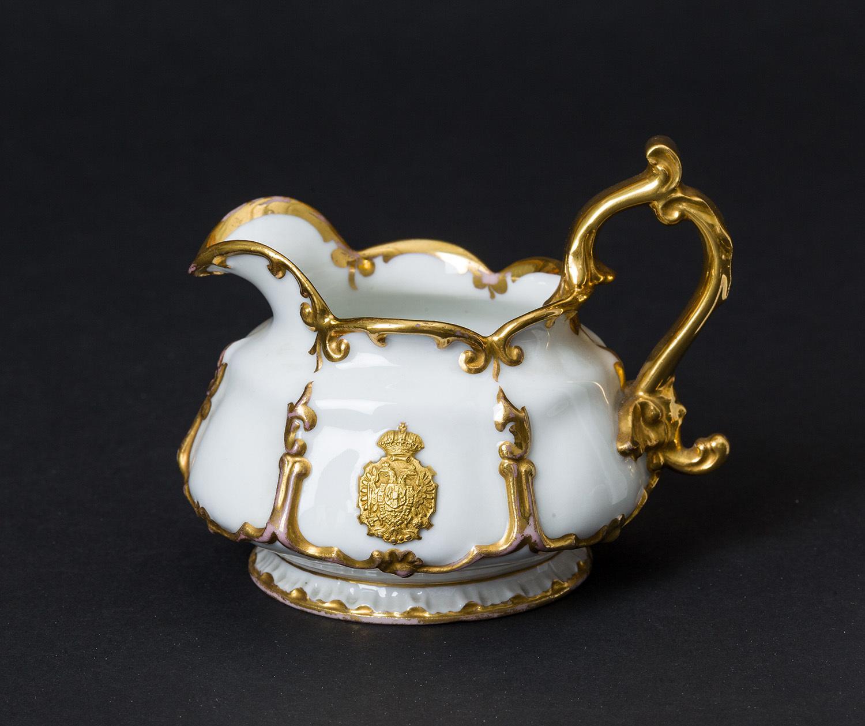 Kaiser Ferdinand / Kaiser Franz Joseph I. und Kaiserin Elisabeth - Kaiserliches weiß-goldenes Service. Oberskännchen
