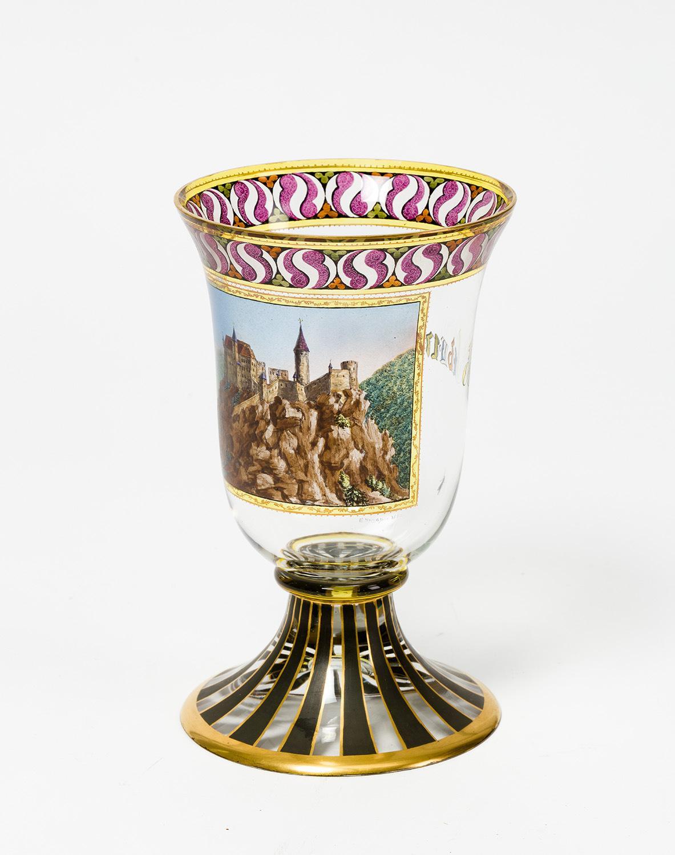 Wildensteiner Pokal mit der Ansicht von Seebenstein