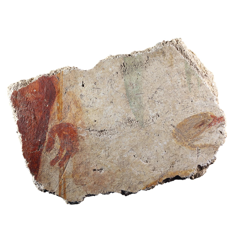 Wandmalereifragment mit Figurenrest