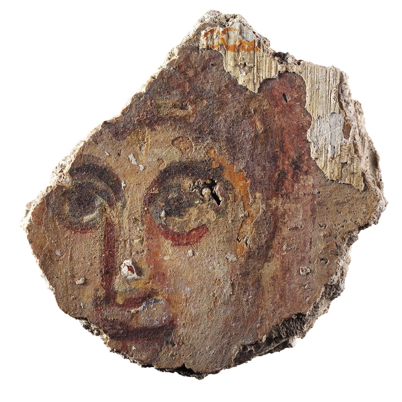 Wandmalereifragment mit Gesicht