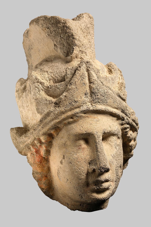 Kopf einer Statue der Minerva (Roma, Virtus?)