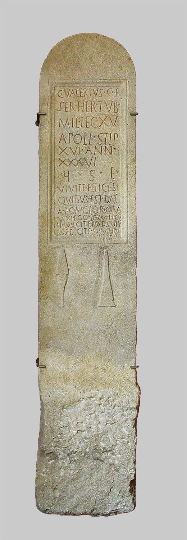 Grabstele des Caius Valerius