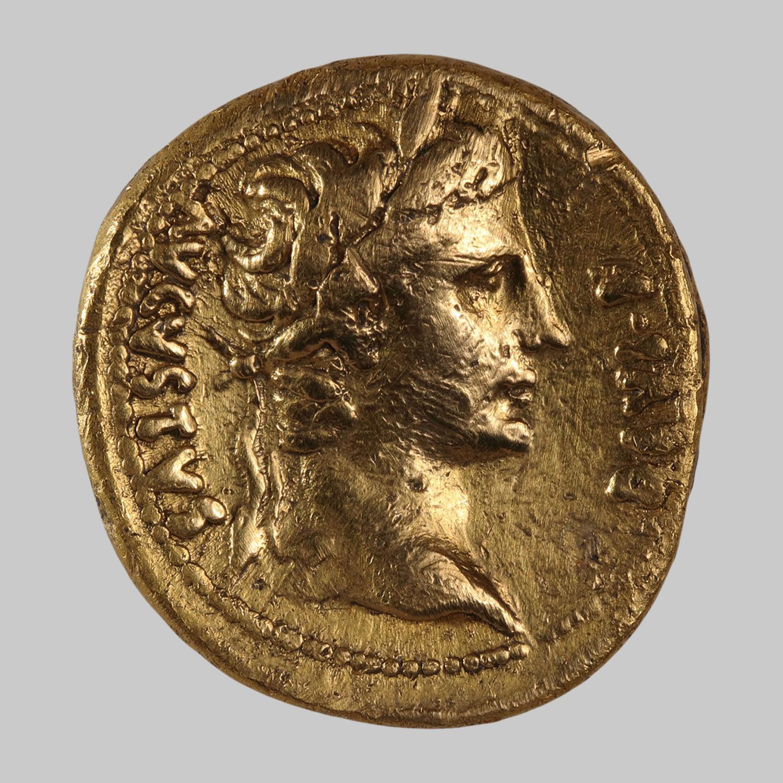 Gold-Quinar des Augustus