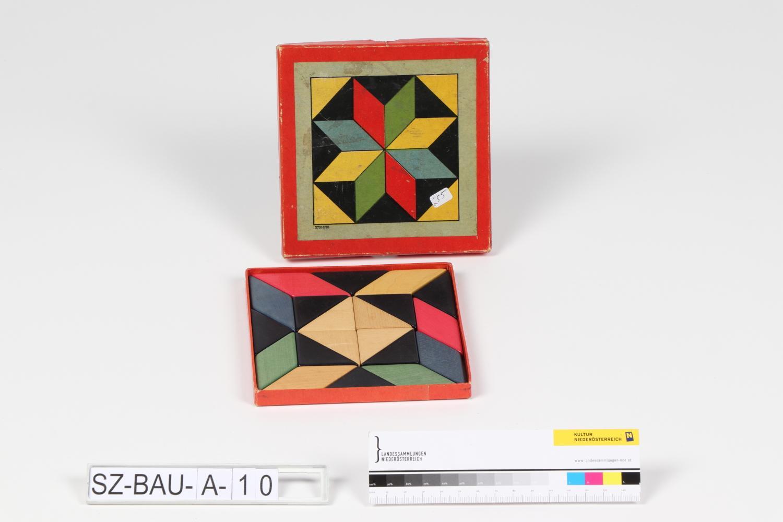 Holzlegespiel Farbmuster