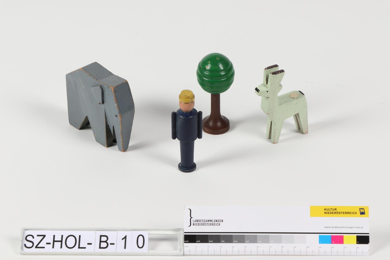 Tiergruppe mit Figur