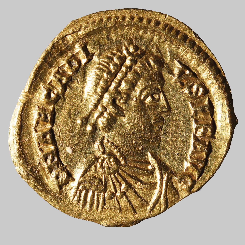 Tremissis des Theodosius I für Arcadius