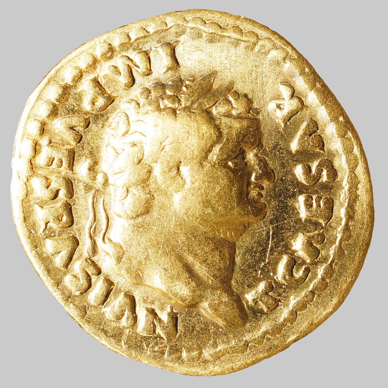 Aureus des Vesspasianus für Titus (Caesar)