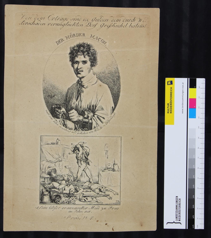 Der Mörder Johann Macon im Kerker