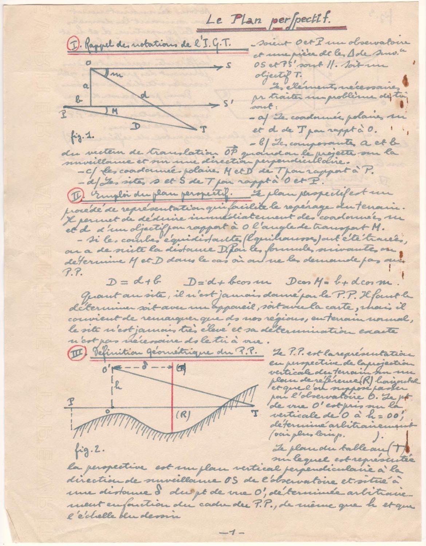 Kartonumschlag mit Notizen und Zeichnungen
